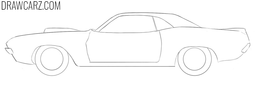 how to draw a drag race car