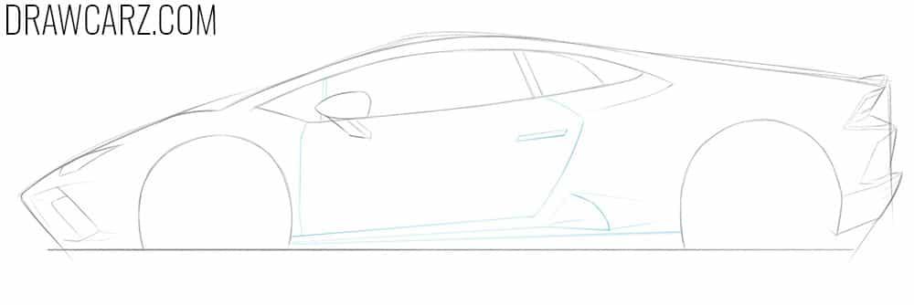 how to draw a lamborghini car step by step