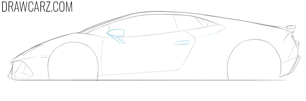 how to draw a lamborghini huracan step by step easy