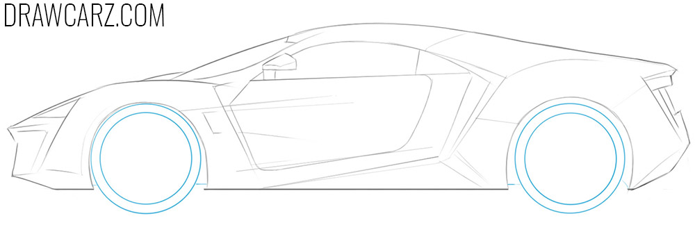how to draw a lykan hypersport easy