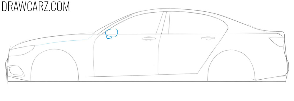 how to draw a simple picture of a car
