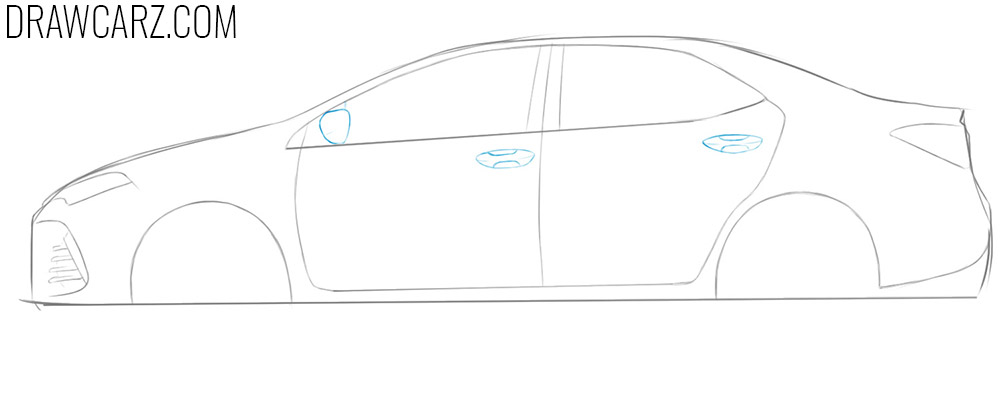 how to draw a toyota corolla step by step easy