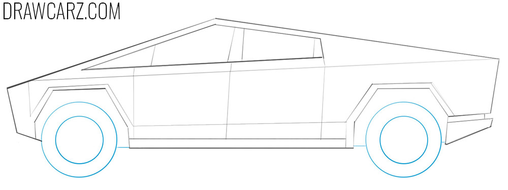 how to draw a truck car
