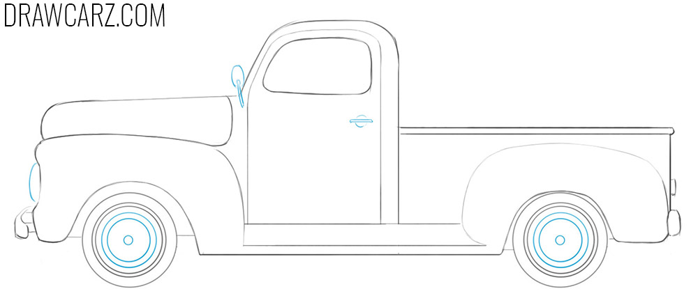 how to draw an Old Truck easy