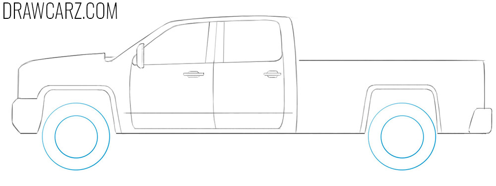 how to draw an easy truck