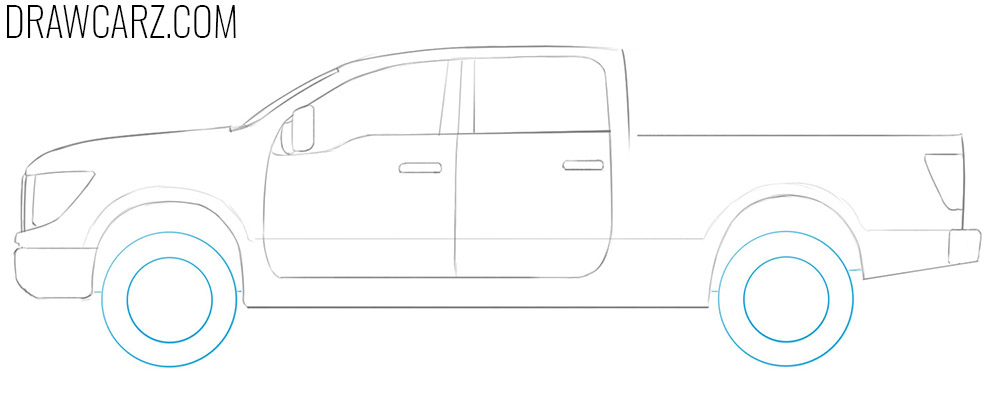 easy way to draw diesel trucks
