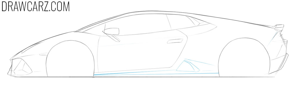 how to draw a lamborghini huracan performante step by step