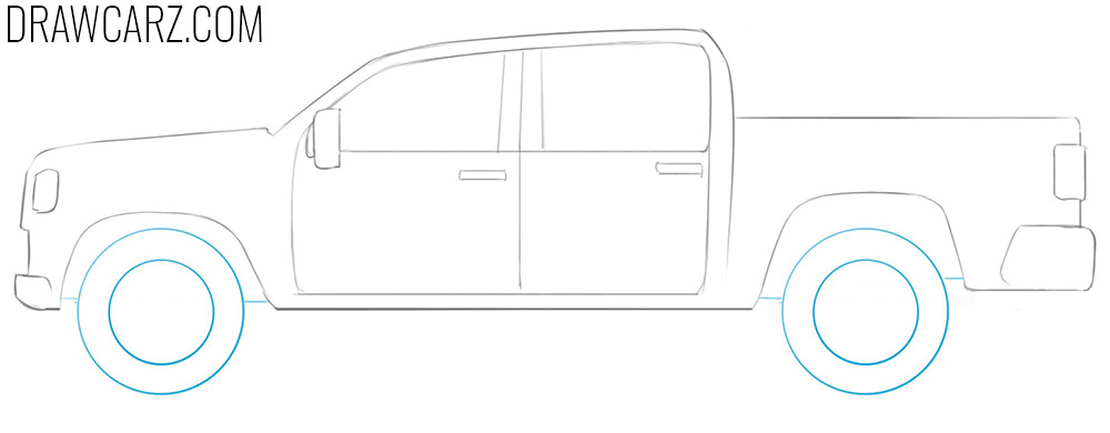 how to draw a simple truck step by step