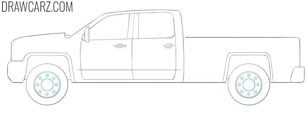 how to draw a truck easy step by step