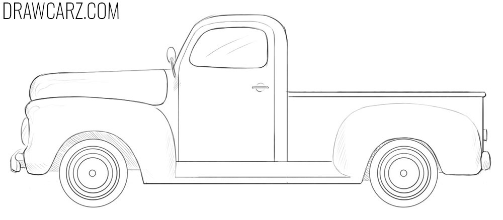 how to draw an Old Truck