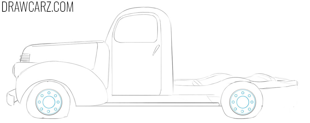 how to draw an abandoned truck easy
