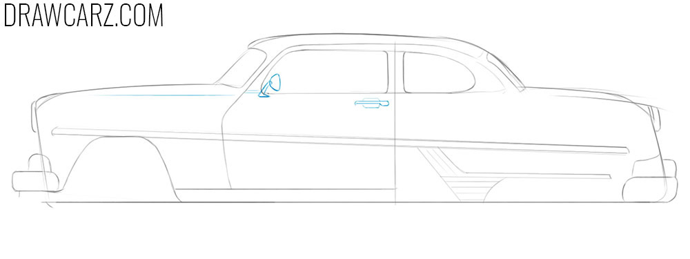 how to draw antique cars