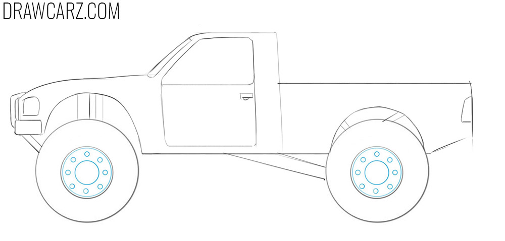 how to draw off road trucks