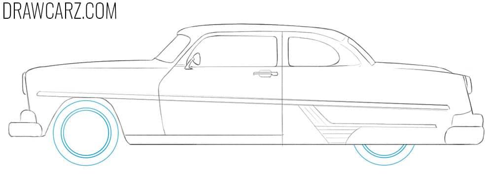 Antique Car drawing tutorial