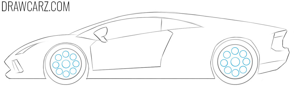 how to draw a Lambo for Kids