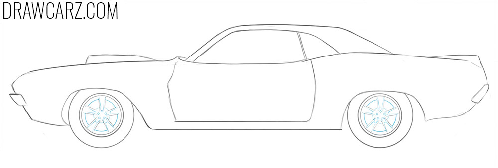 how to draw a drag racing car