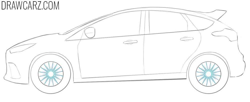 how to draw a ford focus rs easy