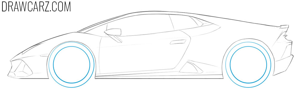 how to draw a lamborghini huracan easy