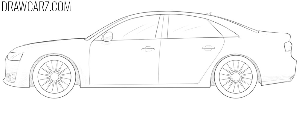 how to draw an Audi Car