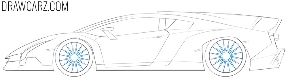 how to draw a Lamborghini Veneno