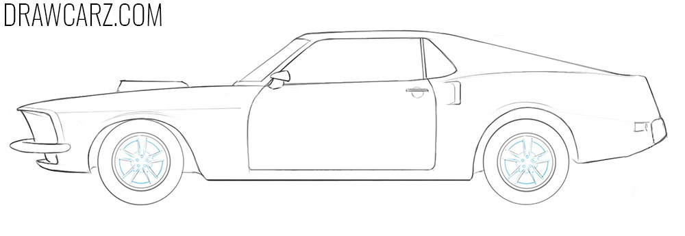 how to draw a classic car step by step
