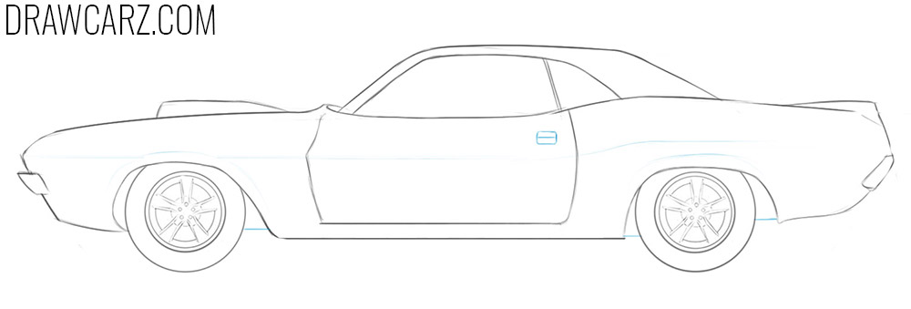 how to draw a drag car step by step