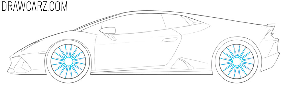 how to draw a lamborghini huracan performante