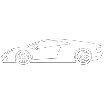 How to Draw a Lamborghini for Kids
