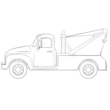 How to Draw a Tow Truck