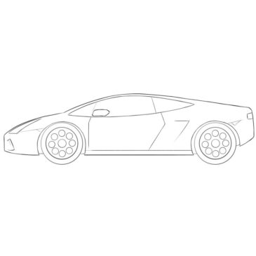 How to Draw a Cartoon Lamborghini