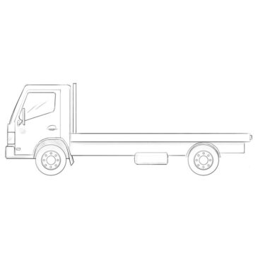 How to Draw a Flatbed Truck