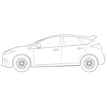 How to Draw a Ford Focus RS