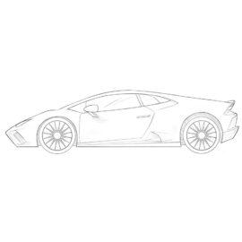 how to draw a lamborghini car