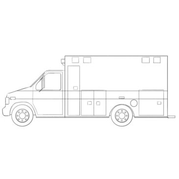 How to Draw an Ambulance Car