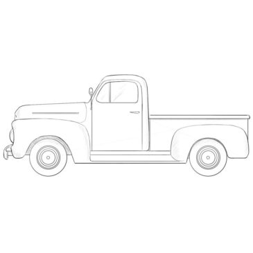 How to Draw an Old Ford Truck