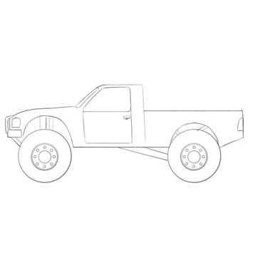 How to Draw an Off-Road Truck